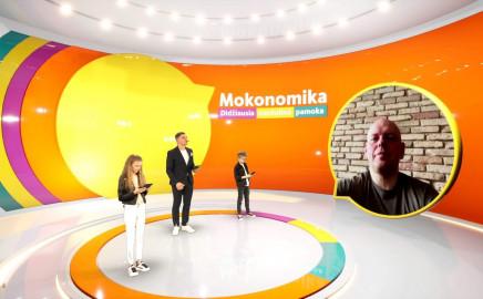 """Didžiausia nuotolinė pamoka """"Mokonomika"""""""