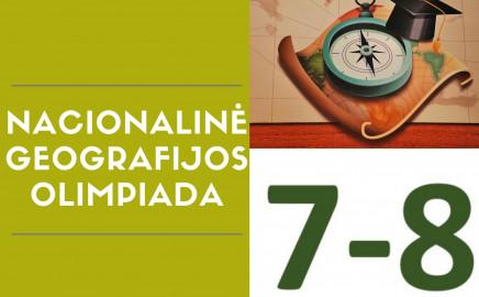 7-8 klasių mokinių nacionalinė geografijos olimpiada